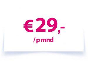 €29,- p/mnd