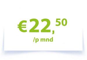 €22,50 p/mnd